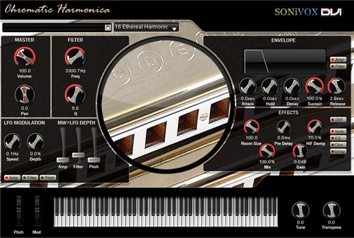 دانلود وی اس تی هارمونیکا SONiVOX Chromatic Harmonica
